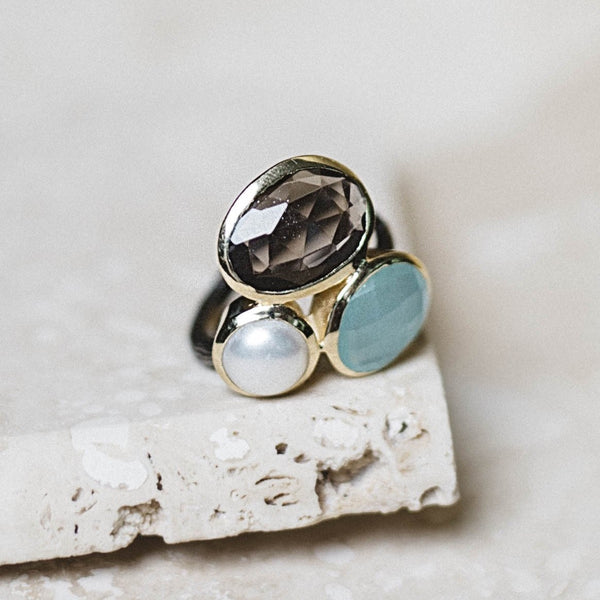 Salema Ring- Smoky Quartz