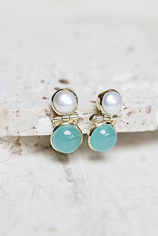 Shelby Earrings- Pearl