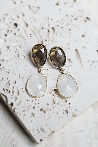 Patara Earrings- Smoky Quartz