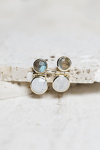 Shelby Earrings- Labradorite