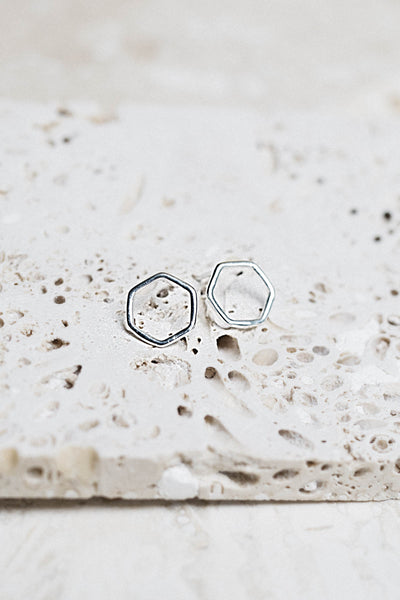 Ione Stud Earrings- Silver