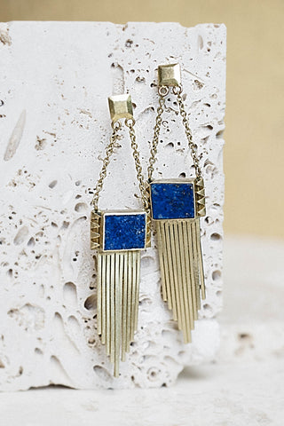 Vanessa Earrings- Lapis