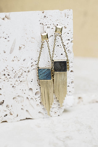 Vanessa Earrings- Labradorite
