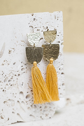 Sirmione Tassel Earrings- Marigold