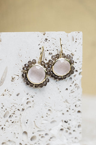 Meg's Favorite Earrings- Rose Quartz
