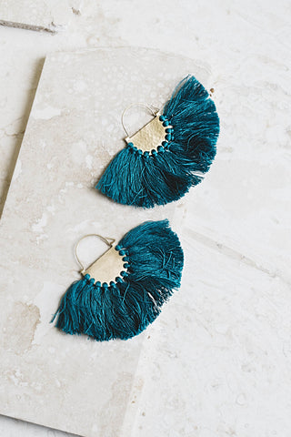 Favorite Fringe Earrings- Emerald