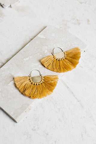 Favorite Fringe Earrings- Marigold