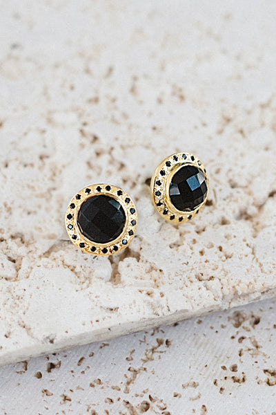 Celebration Stud Earrings- Black Onyx