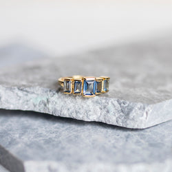 Firenze Ring - Blue Iolite