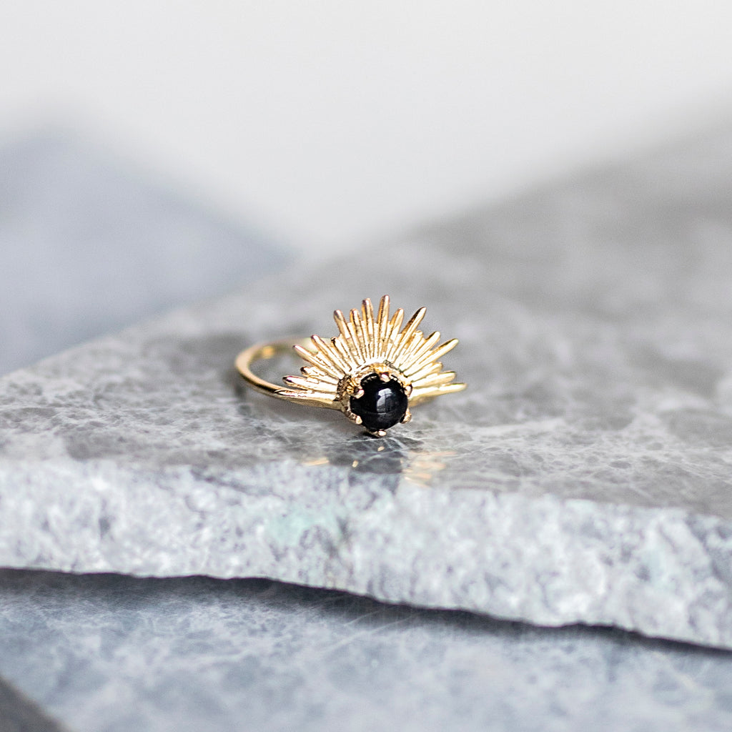 Starburst Ring- Black Onyx