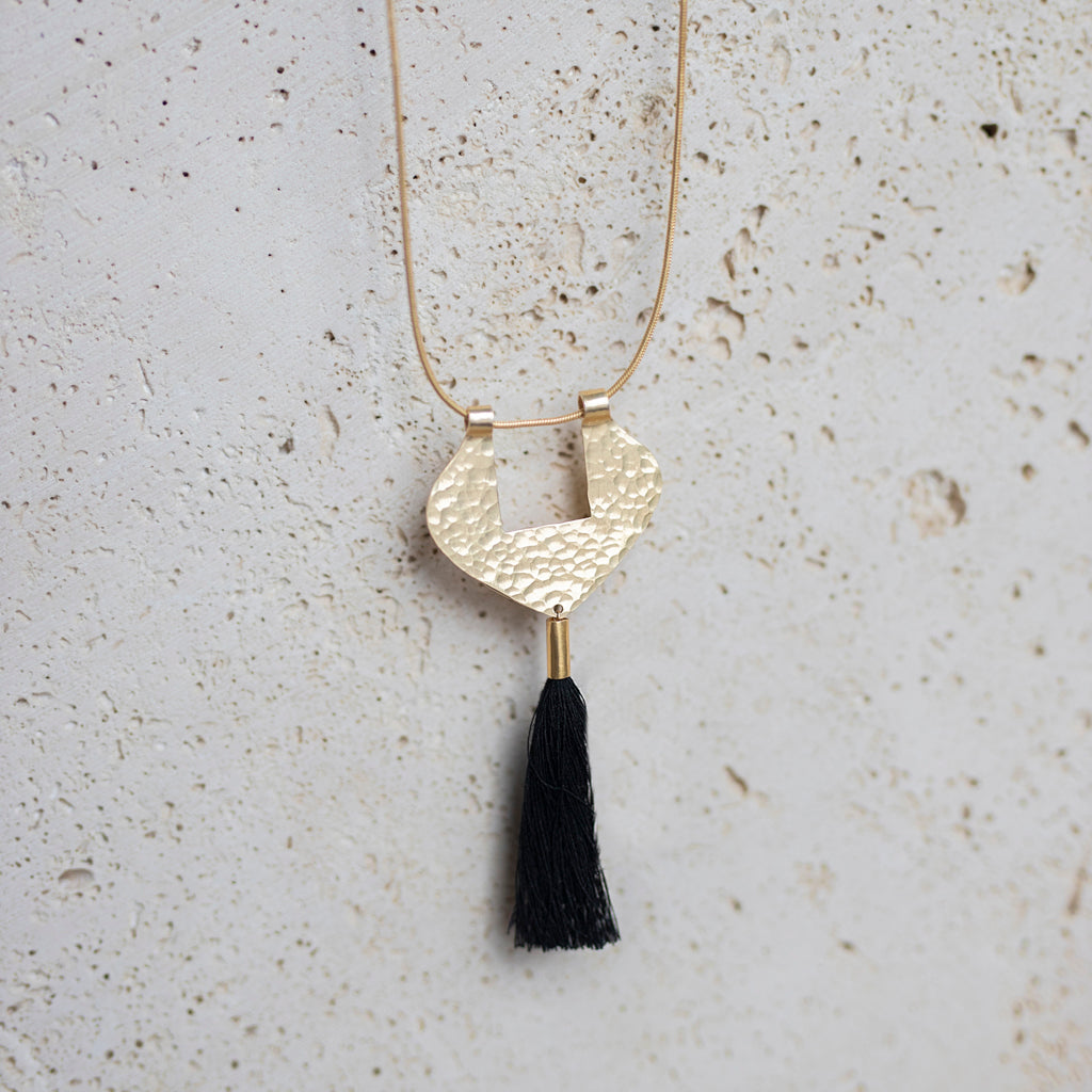 Niagara Tassel Necklace- Black