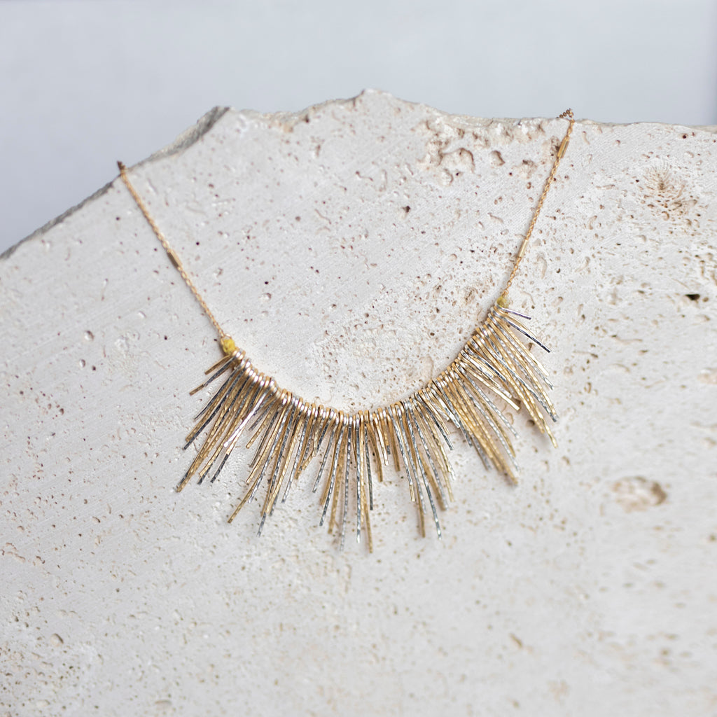 Soleil Mixed Metal Necklace