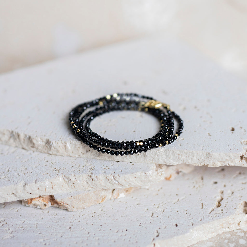 Perfect Layers Wrap Bracelets-Black Onyx