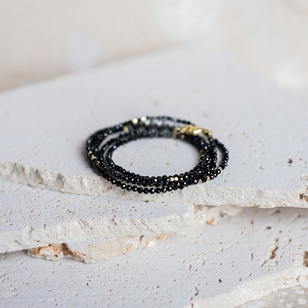 Perfect Layers Wrap Bracelet -Black Onyx