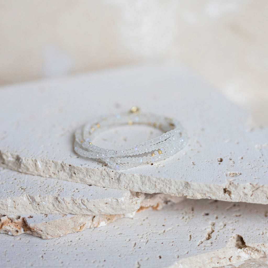 Perfect Layers Wrap Bracelet- Moonstone