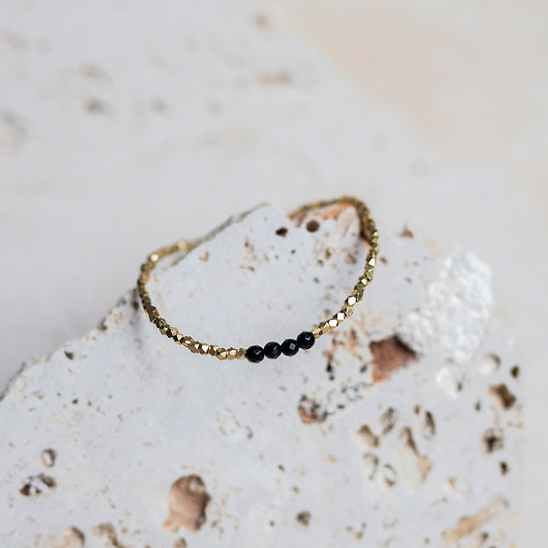 Delicate Layers Bracelet- Black Onyx