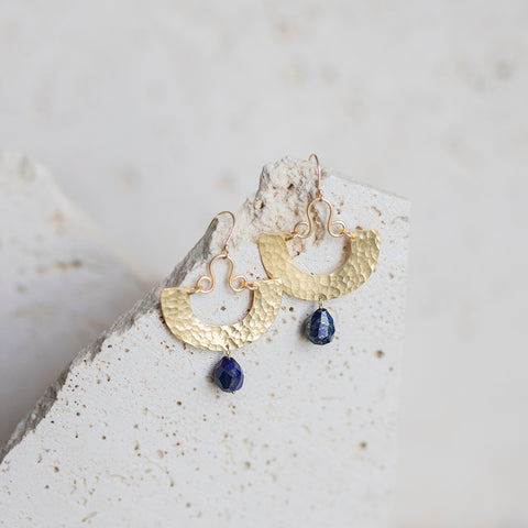 San Miguel Earrings- Lapis