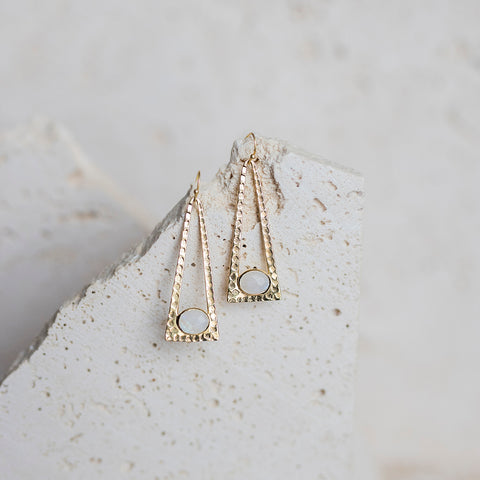 Laine Drop Earrings- Moonstone