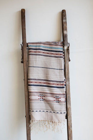 Bohemian Striped Scarf - Muted Hues