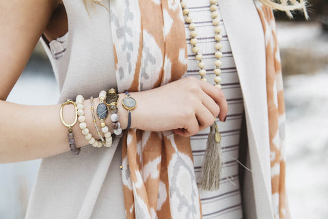 Perfect Layers Bracelet- Gray