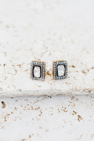 Heirloom Diamond Studs- Rectangle