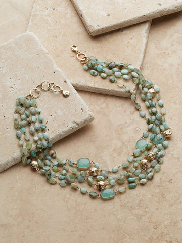 Vernazza Chalcedony Necklace