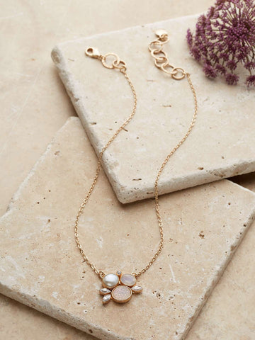 Blush Druzy Pendant Necklace