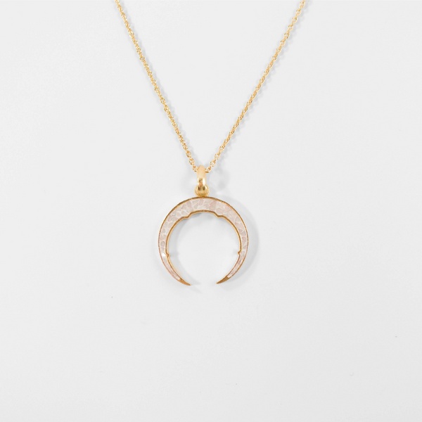NEW! Neve Pendant Necklace - White