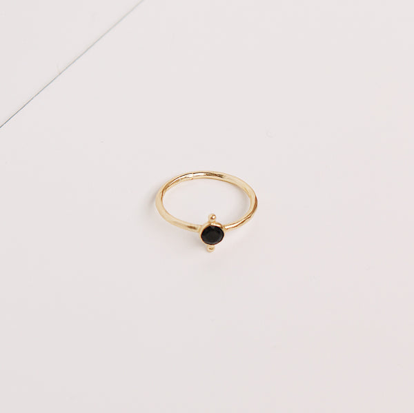 Maggie Stack Ring - Black Onyx