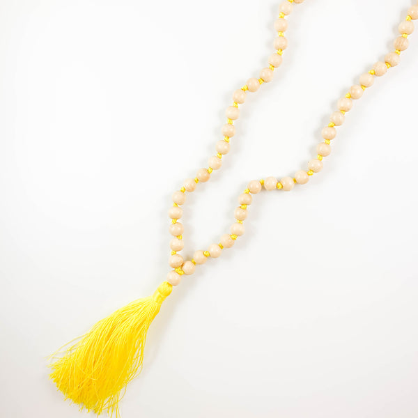 Beaded Neon Fringe Necklace