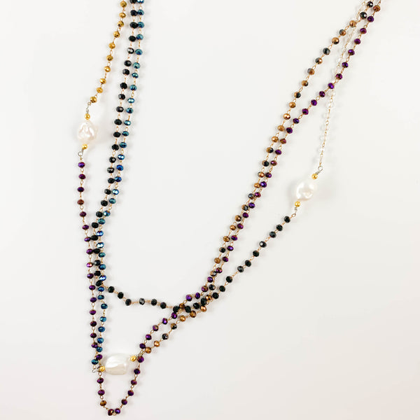 Multi Layered multi colored necklace