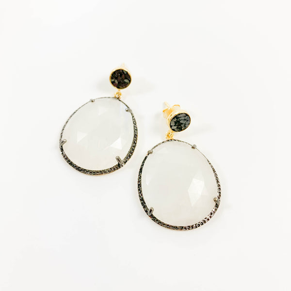Neena Earrings - Moonstone