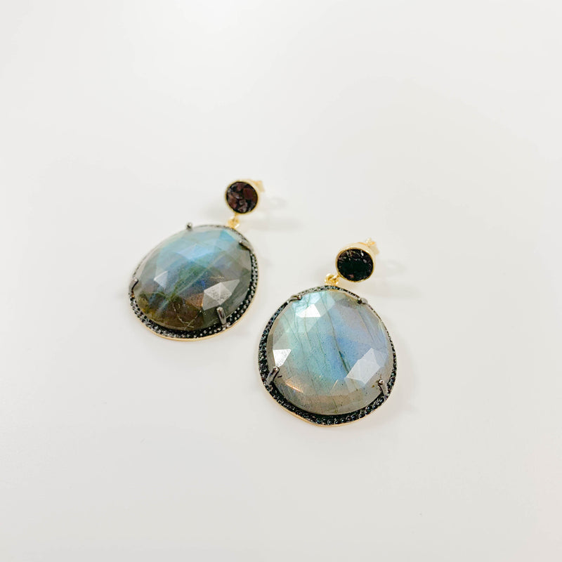 Neena Earrings - Labradorite