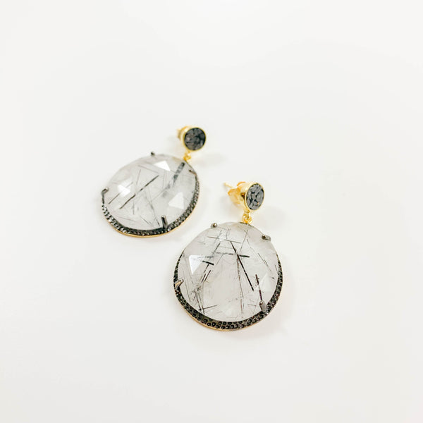 Neena Earring - Rutilated Quartz