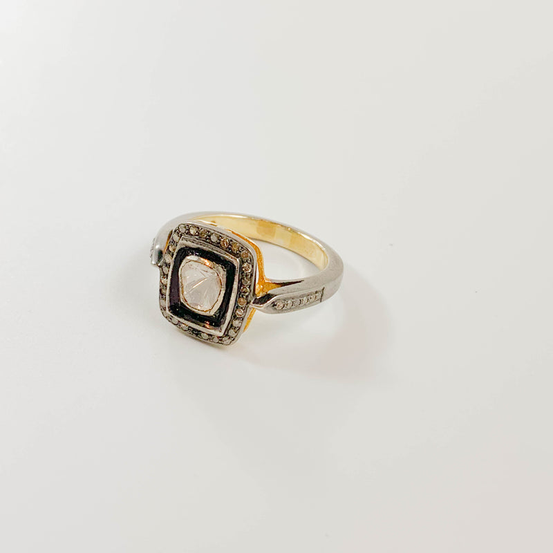 Polki Diamond Audrey Ring - size 8