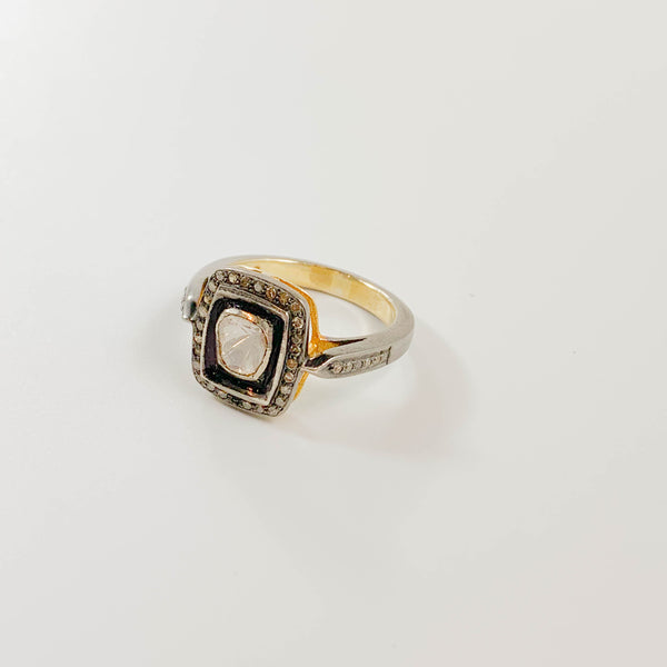 Polki Diamond Audrey Ring size 9
