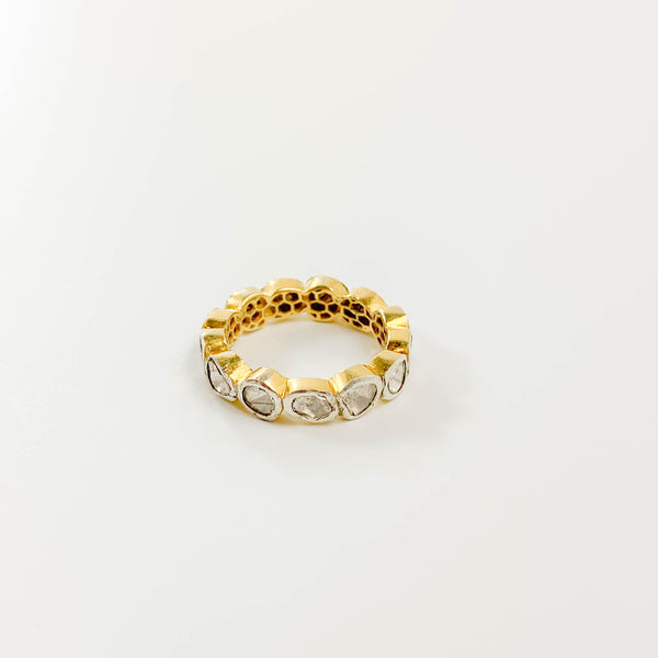 Polki Diamond Infinity Ring - size 6
