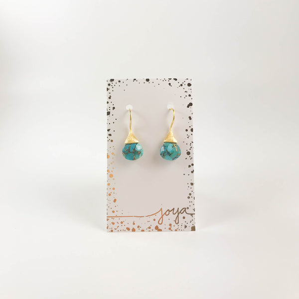 Drew Drop Earrings - Turquoise