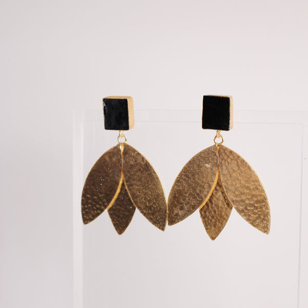 Eden Earrings - Black Onyx
