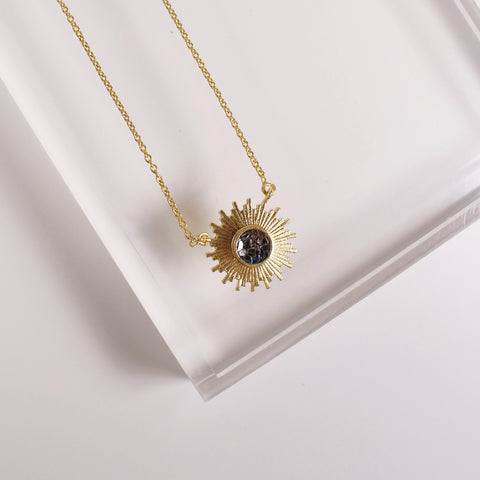 Katherine Necklace - Black Deco Diamond