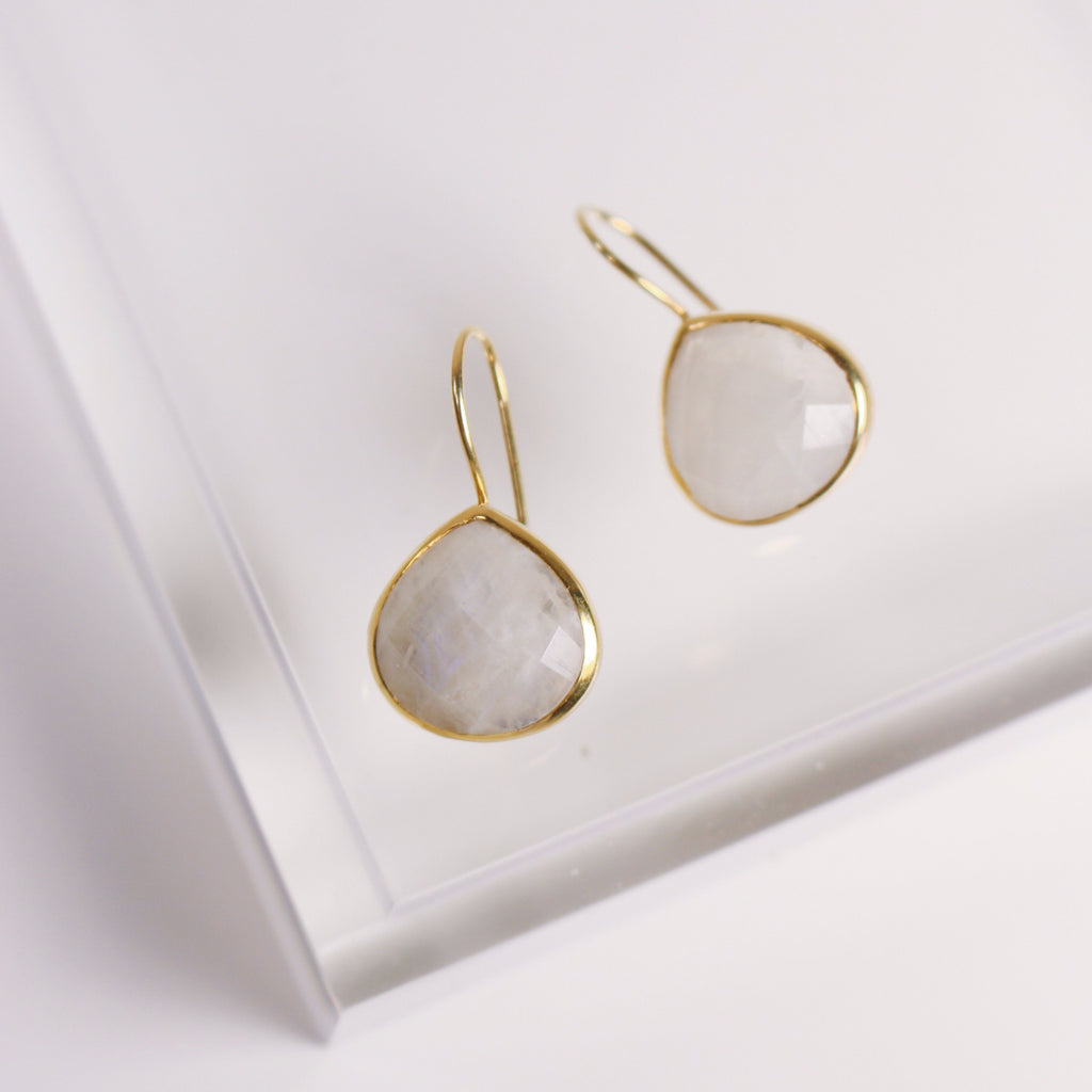 Turks and Caicos Earrings - Gold / Moonstone