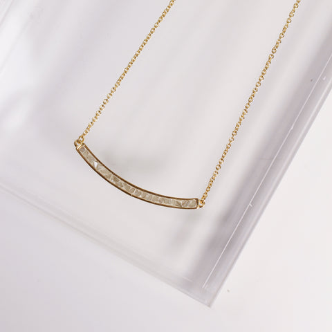 Tribeca Necklace - White Deco Diamond