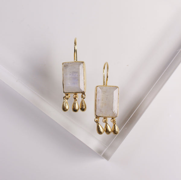 Norcia Earrings - Moonstone