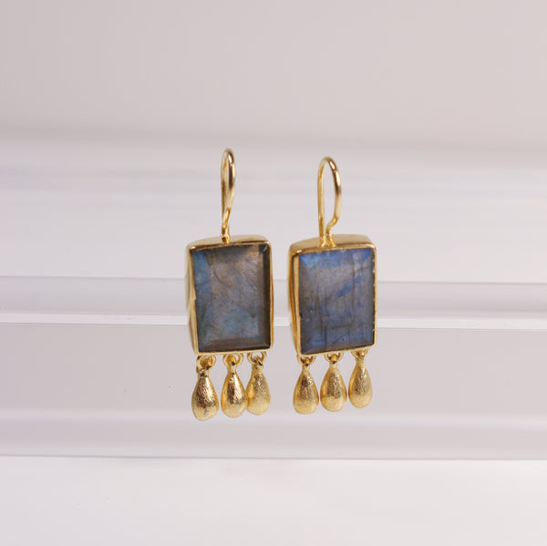 Norcia Earrings - Labradorite