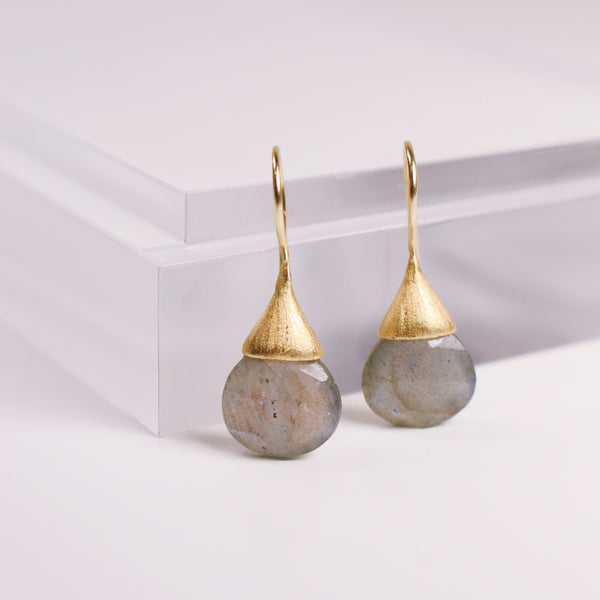 Drew Drop Earrings - Labradorite