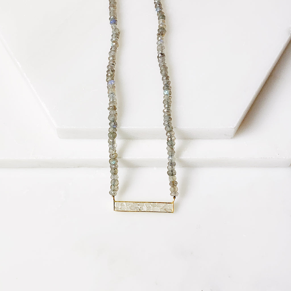 Theresa Necklace- Labradorite