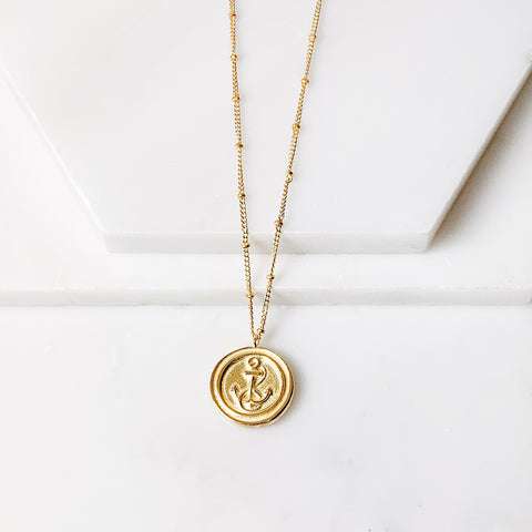 Anchor Medallion Necklace
