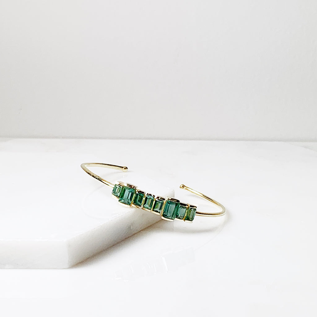 Firenze Cuff- Green Tourmaline