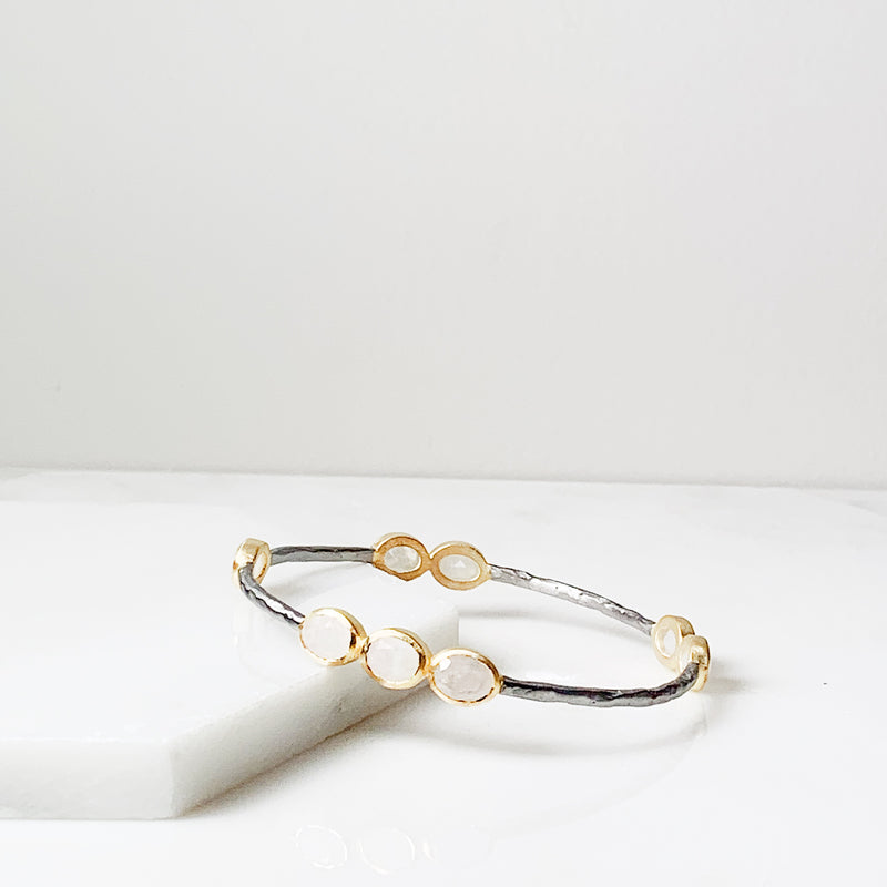 Laila Bangle Bracelet- Moonstone
