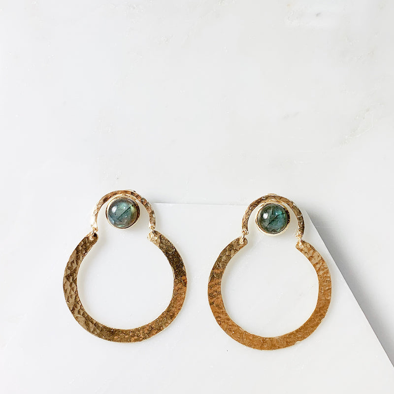 Helen Earrings - Labradorite